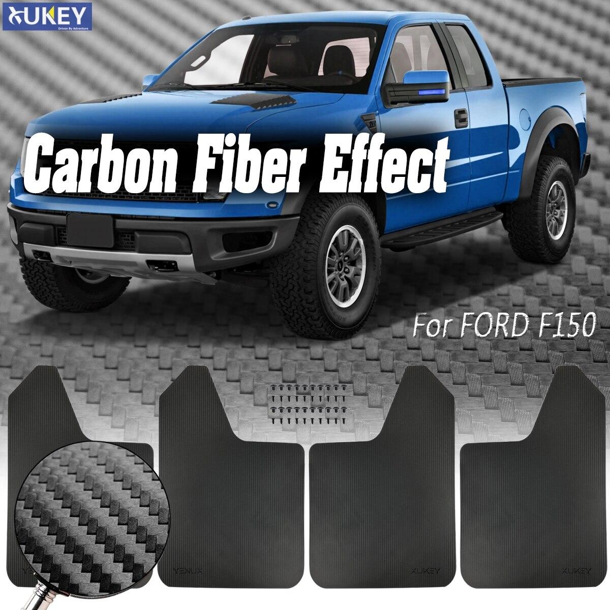 4 piezas guardabarros guardapolvos guardabarros delantero trasero para Ford F150 F250 Raptor Ranger T6 MK1 MK2 XLT PX Everest BT-50