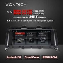 Android 10 2GB RAM 32GB lecteur multimédia de voiture ROM Auto radio adapté pour BMW X3 F25 X4 F26 central multimidia GPS navigation Carplay