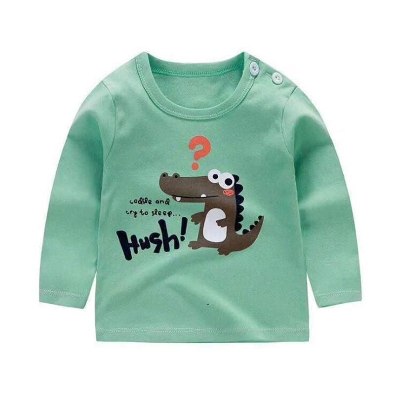 New Boys Girls Dinosaur Cartoon Long Sleeve Cotton T Shirts Boys clothes Children Printed Tees Kids T Shirts Baby Boy Tops 9M-6Y