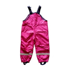 kids/toddler/baby girls windproof / waterproof overalls, pants, rose color,  74 to 92