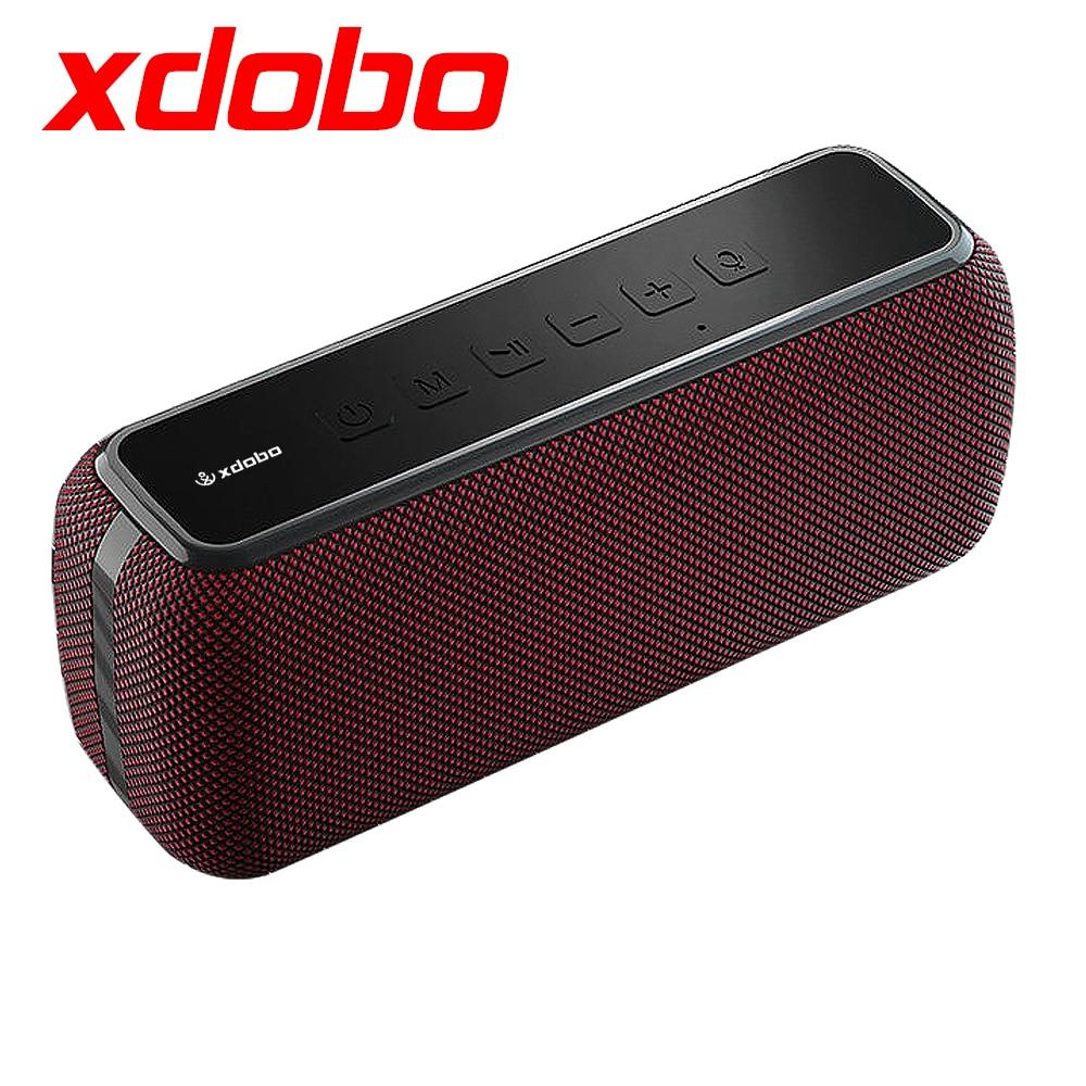 XDOBO-مكبرات صوت بلوتوث محمولة X8 60 وات ، جهير مع مضخم صوت لاسلكي ، IPX5 مقاوم للماء ، TWS ، وقت تشغيل 15 ساعة ، مساعد صوت إضافي