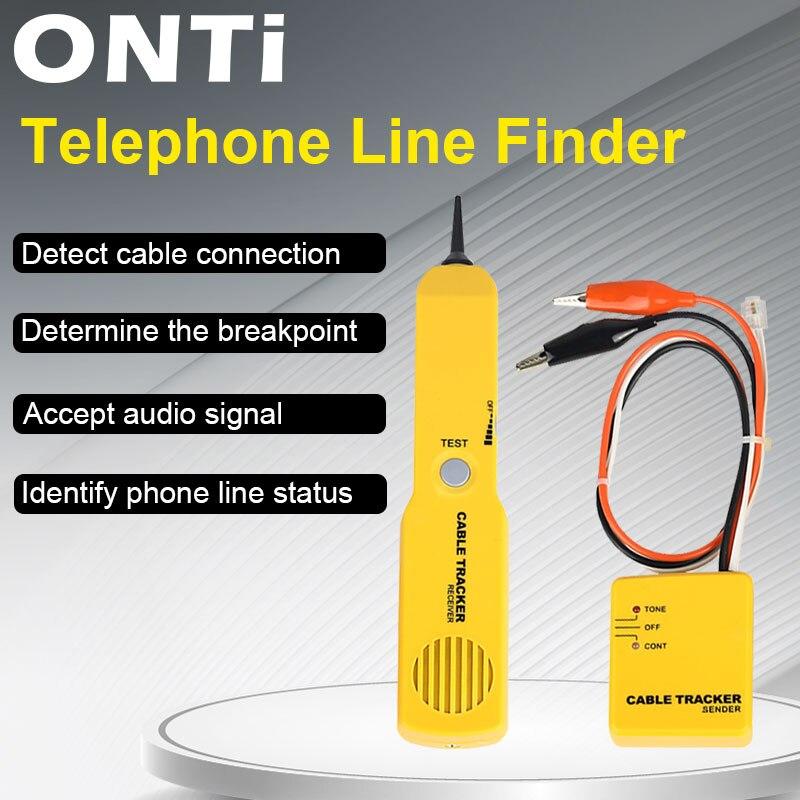 ONTi трекер диагностический тональный искатель телефонный проводной кабель тестер Тонер-трейнер inder детектор сетевые инструменты