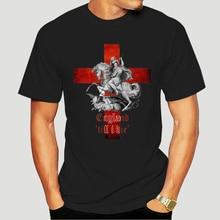 Angleterre Jusquà ma Mort T-shirt St Georges Tshirt Dragons Anglais Top GD3 0915D