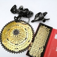 LTWOO 1*12s 12 Speed MTB Groupset Shift Carbon Rear Derailleur Shift Chain Mountain Bike 11-52T Gold Cassette For SRAM Shimano