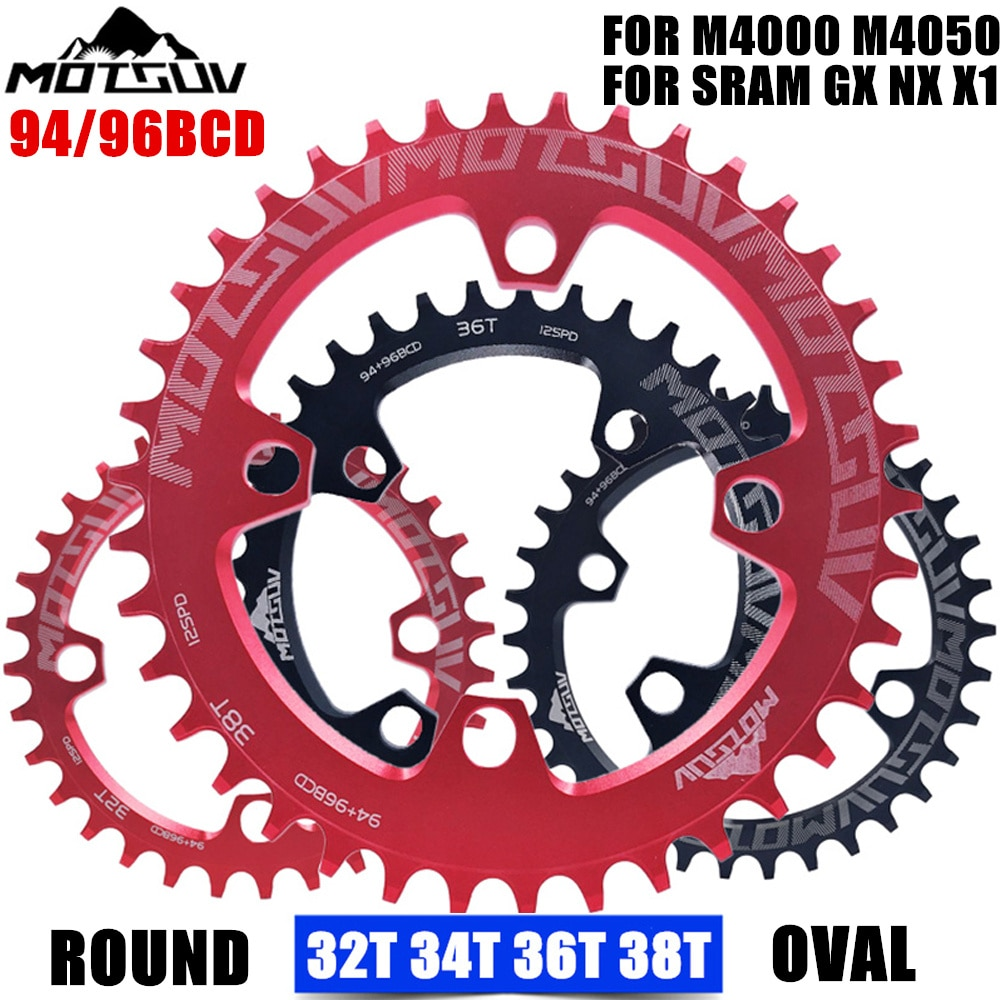 MOTSUV-manivela para bicicleta de 94/96MM, 32/34/36/38T, rueda de cadena REDONDA/ovalada 94/96BCD, para...
