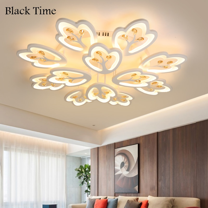 ثريا LED بإطار أبيض ، تصميم حديث ، إضاءة داخلية ، إضاءة سقف زخرفية ، مثالية لغرفة المعيشة أو غرفة النوم ، AC 110V 220V