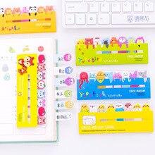 Kawaii bloc-Notes signets papeterie créative Animal mignon Notes autocollantes Index posté planificateur fournitures scolaires autocollants en papier