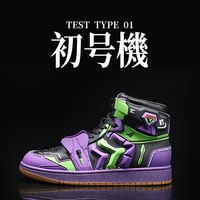 Evangelion Shogoki EVA 01 TEST TYPE Purple Sneakers Men Original Outdoor Casual Shoes