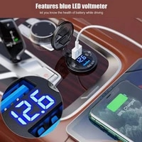 for car car led charger motorcycle onoff switch button port waterproof 12v digital led display