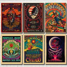 Affiche dautocollants muraux Vintage   Imprimés daffiches rétro de grat Dead en haute définition pour décoration de salon et de maison