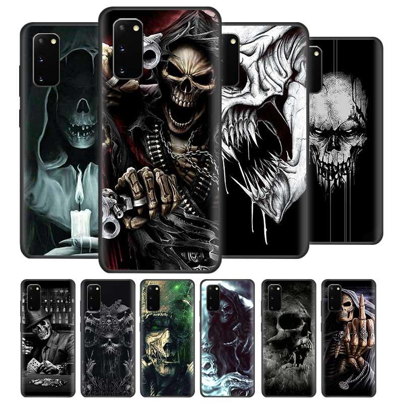 Grim Reaper Skull Cases for Samsung Galaxy S20 Ultra S10 5G S10e S9 S8 Plus Note 10 Lite 9 Black Soft Cover Coque