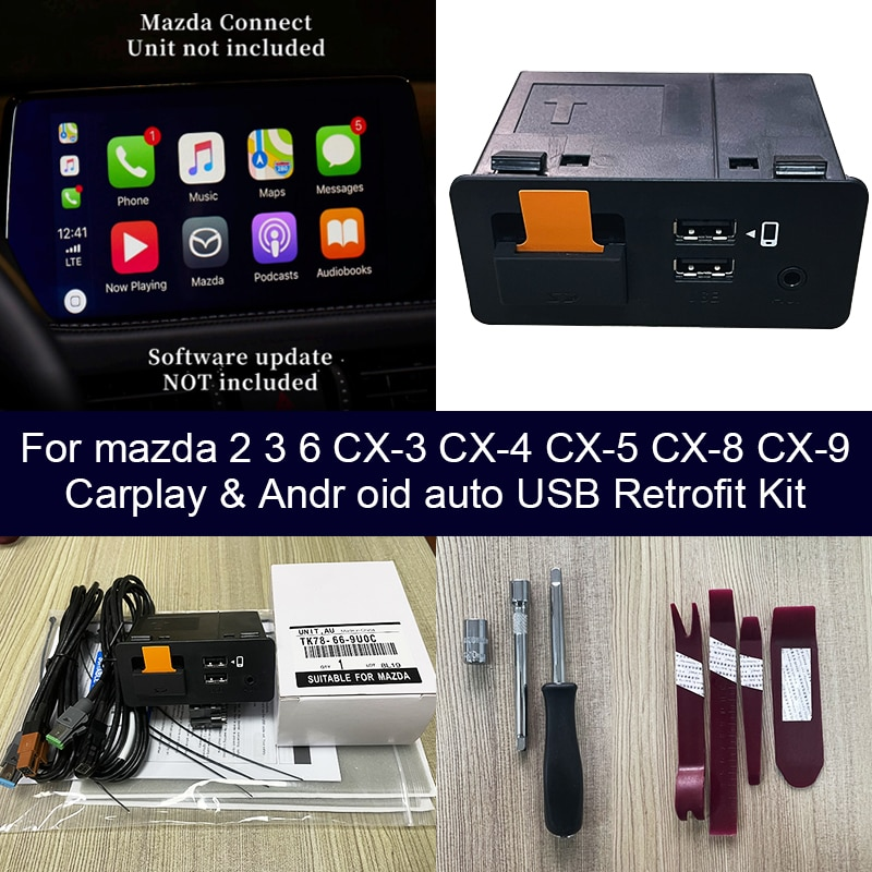 Review USB adapter Android Auto Apple CarPlay for Mazda 3 Mazda 6 Mazda 2 Mazda CX30 CX5 CX8 CX9 MX5 Mazda CX-30 CX-5 CX-9 MX-5