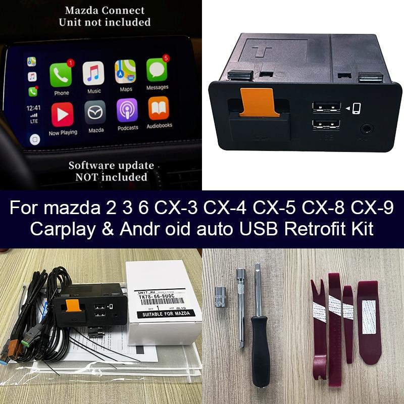 USB محول الروبوت السيارات أبل CarPlay لمازدا 3 مازدا 6 مازدا 2 مازدا CX30 CX5 CX8 CX9 MX5 مازدا CX-30 CX-5 CX-9 MX-5