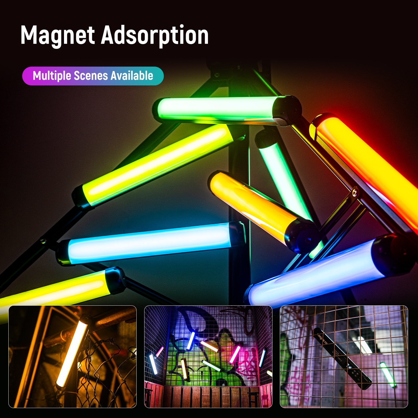 Weeylite K21 8W RGB Colorful Ice Light Stick LED Video Light Handheld Tube APP Control Magnetic Photography Soft luminary Light enlarge