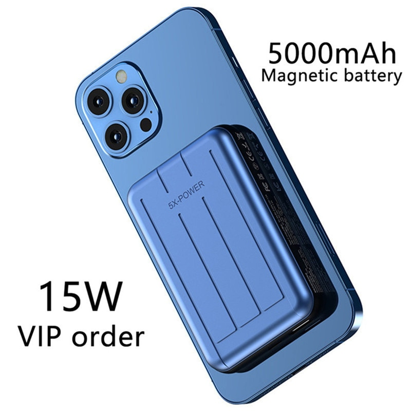 10000mAh Magnetic Power Bank For Magsafe 15W Wireless powerbank Fast Charger For iphone12 12Pro 12proMax 12mini External Battery