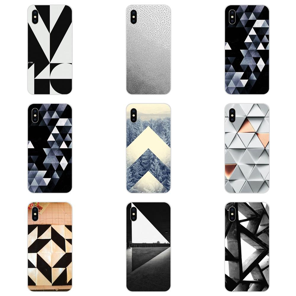 Triángulos blancos de fundas de TPU para LG G2 G3 G4 G5 G6 G7 K4 K7 K8 K10 K12 K40 Mini Plus ThinQ 2016 de 2017 a 2018