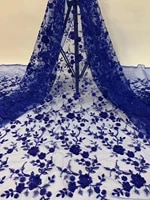 newarrival beautiful beads tube embroidery net tulle lace fabric 5yards mesh lace for wedding or party dpmay229 dpmay229