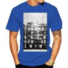 2021 Leisure Fashion 100% Katoen O-hals T-shirt Bring Me The Horizon Candrown Demonen Wit Nieuwe Officiële Bmth Gift