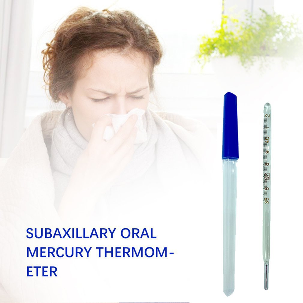 Precise Mercury Glass Thermometer Clinical Temperature Household Health Monitors Health Care Thermometers