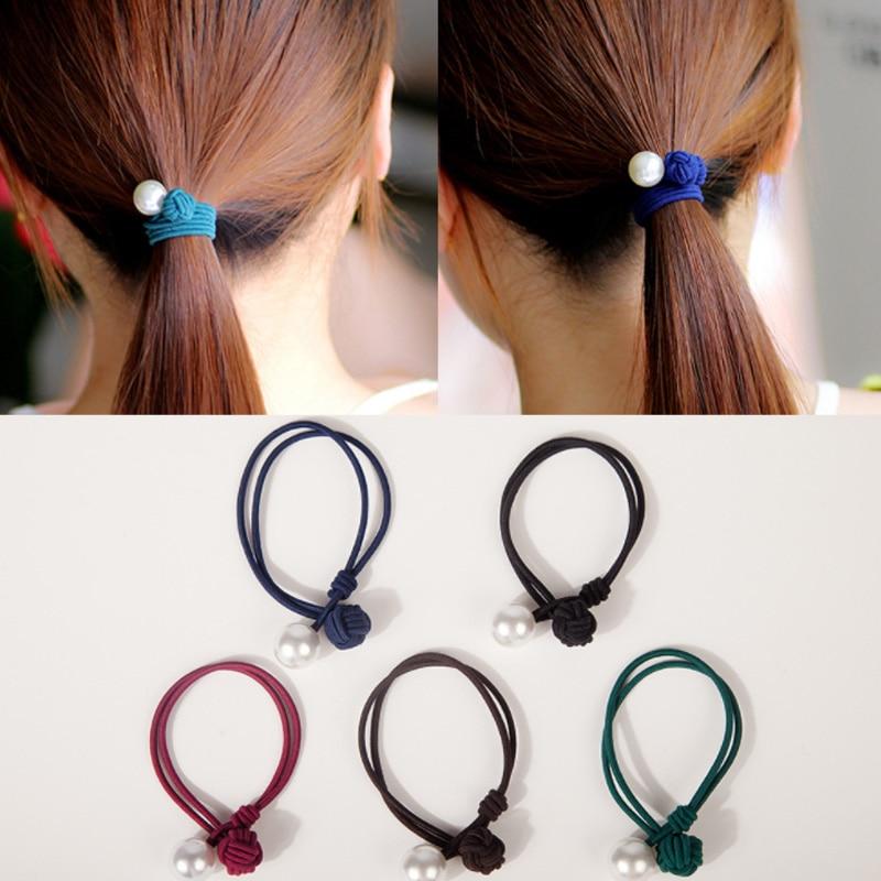 Nowa damska gumka do włosów chiński węzeł peruka perłowa akcesoria podstawowy styl klasyczne dodatki do przystrajania kobiecej głowy podwójna lina gumka