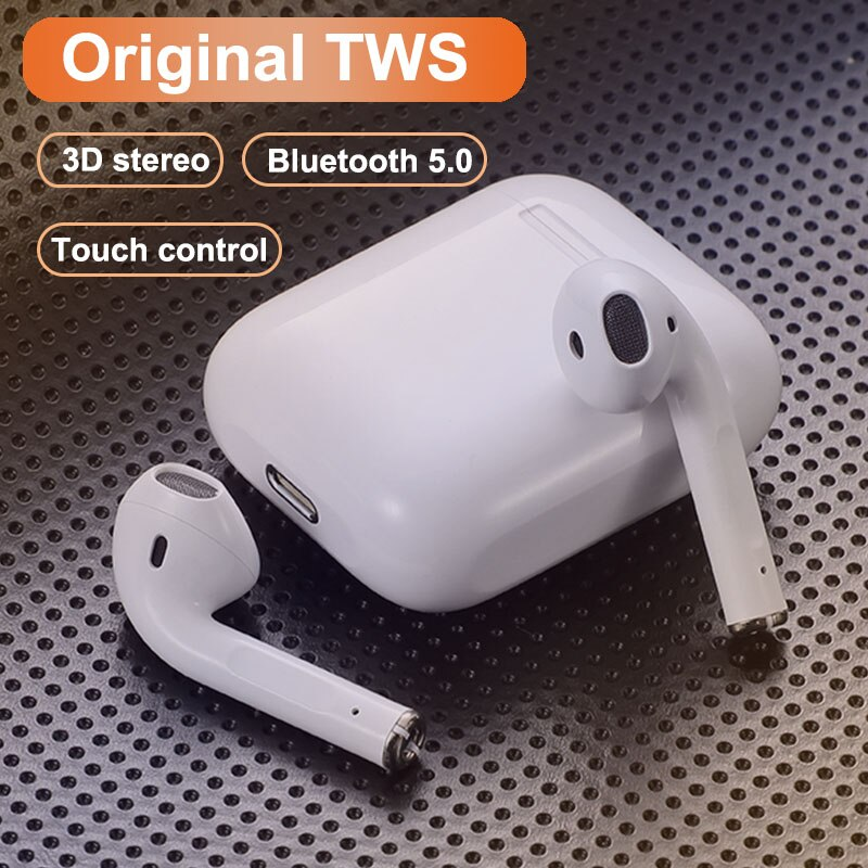 Original i12 Stereo Wireless Bluetooth Earphone Earbuds Headset With Charging Box For iPhone Android