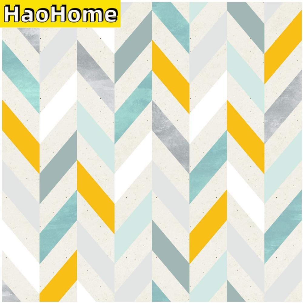 HaoHome-ورق حائط متعرج ذاتي اللصق بطول 3 أمتار ، متعدد الألوان ، ورق حائط ذاتي اللصق لغرفة المعيشة