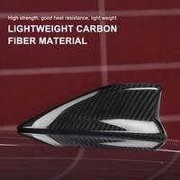 carbon fiber car radio roof shark fin antenna trim cover signal design for subaru brz toyota 86 2014 2019 accessories