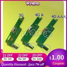 Wyieno pour Huawei Y3-2 Y3 2 3G / 4G Micro chargeur USB Y3ii Y3-ii Port de charge connecteur câble flexible Micro Microphone + suivi
