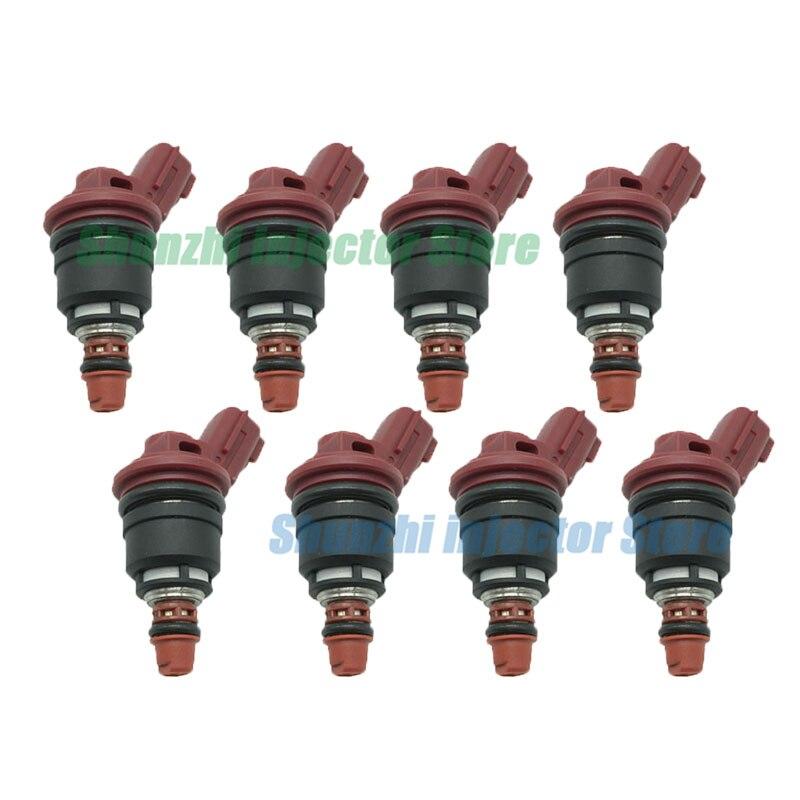 8 Uds inyector de combustible boquilla para Nissan de Brandsto Silvia S13 S14 S15 SR20DE SR20DET alto caudal 1200CC OEM 16600-RC120