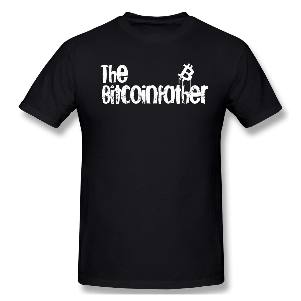 Bitcoinfather – T-Shirt en coton imprimé pour homme, Streetwear à la mode