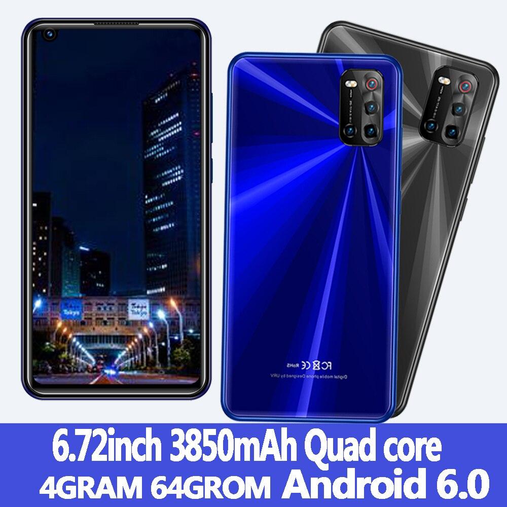 Android 6.0 6.72 pouces écran Z5 Smartphones 4G RAM + 64G ROM Quad Core 8MP + 13MP HD caméra téléphones mobiles Celuares visage ID débloqué