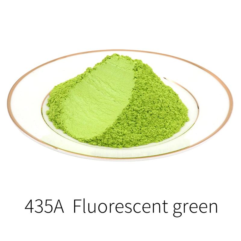 Жемчужная пудра пигмент зеленый минеральная пудра Mica порошок DIY Краска для мыла Автомобильная художественная краска для творчества