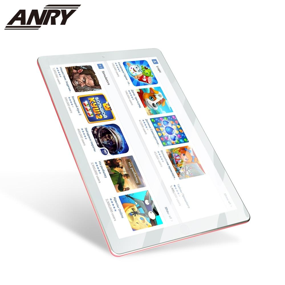 ANRY 3G llamada de teléfono tableta de 10 pulgadas ranura para tarjeta Sim doble android 7,0 Wifi Bluetooth GPS Quad Core 1GB RAM 16GB ROM Tab