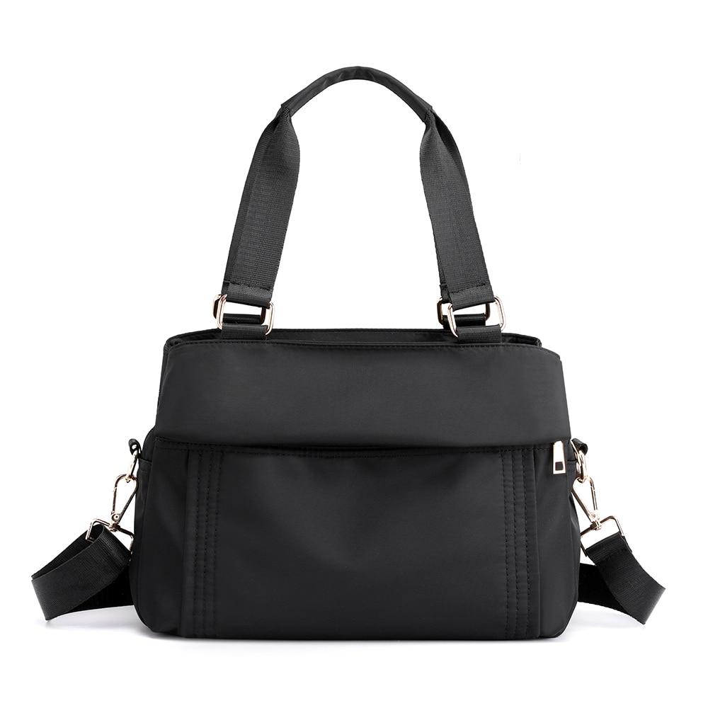 Handbags For Women 2021 Fashion Nylon Waterproof Shoulder Bag Solid Color Weekend Shopper Bag Female Bag Portable Bolsa Feminina