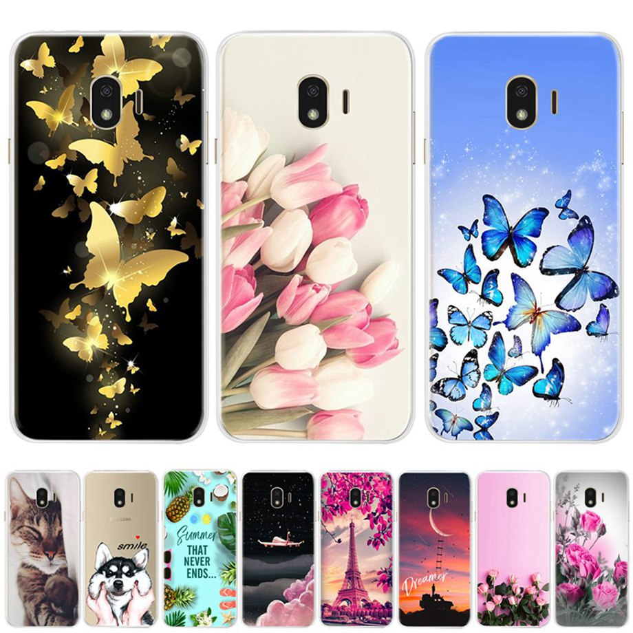 Funda para Samsung de teléfono Galaxy J4 2018 funda para Samsung funda trasera de silicona blanda de dibujos animados de J4 Plus para Samsung Galaxy J4 2018