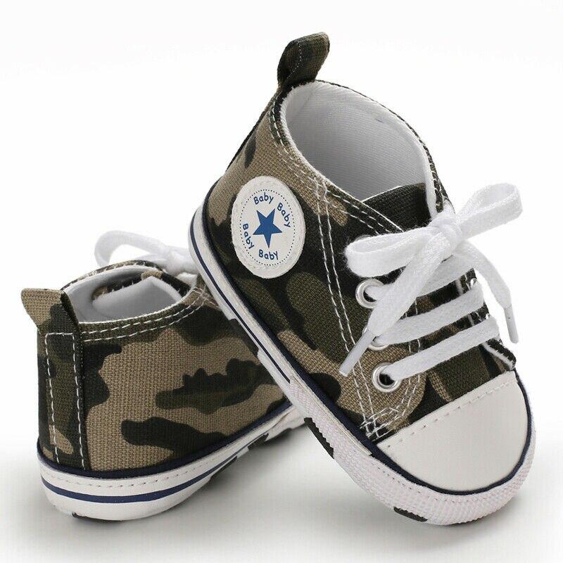 Фирменная Новинка Повседневная детская обувь для мальчиков и девочек, противоскользящие мягкая подошва детская обувь, новорожденные кроссовки ходунков, твердые повязки Модные 2019