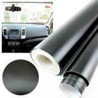 car auto interior vinyl film wrap sticker 3d black leather texture sheet car center console decorative stickers 30cm 152cm