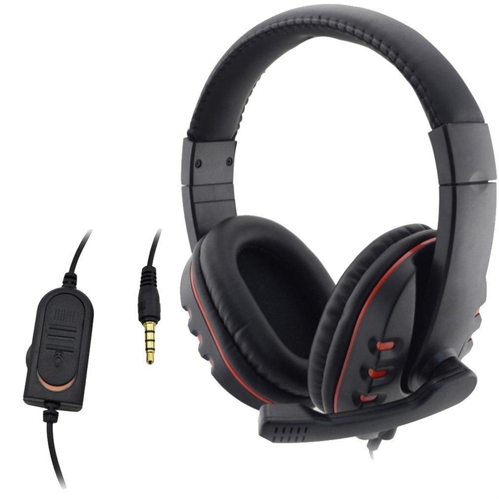 Auriculares con cable 3,5mm auriculares para juegos auriculares micrófono de música para PS4 Play Station 4 Game chat PC