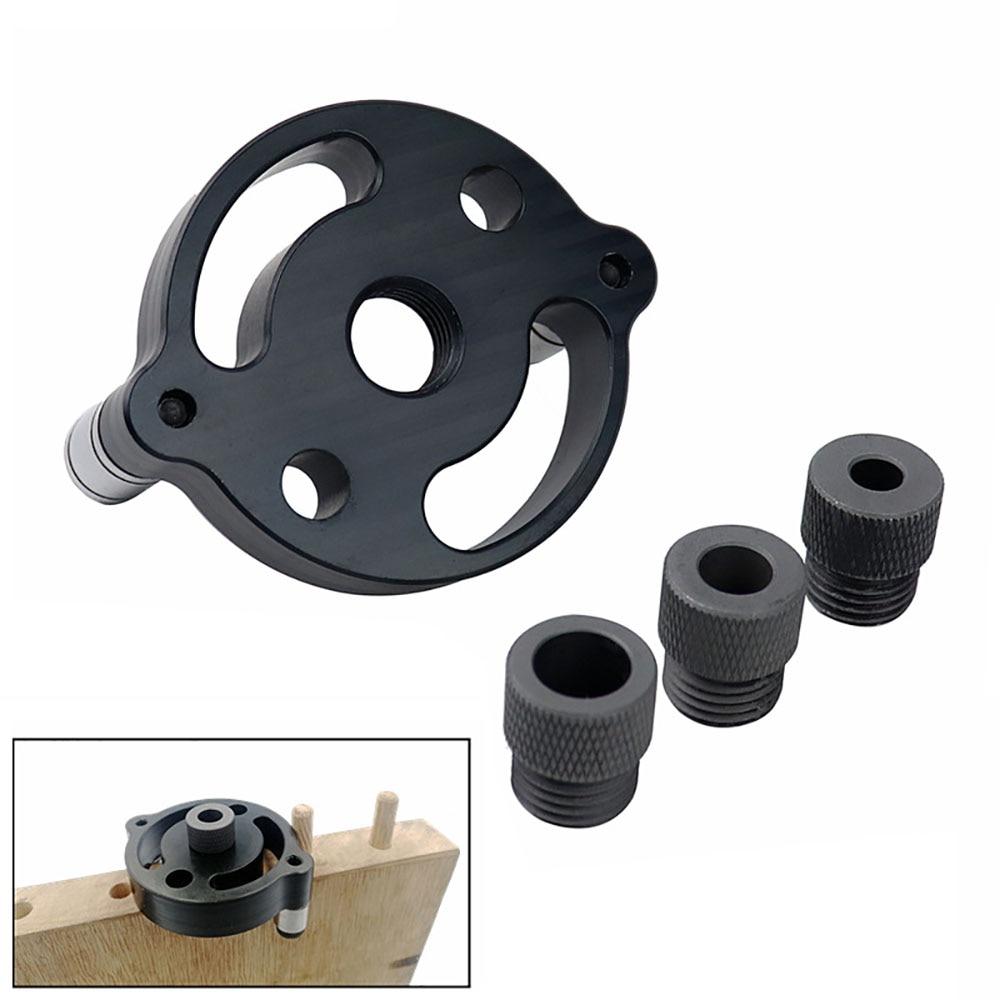 Localizador de perfurador de ponteira, autocentrar 6/8/10mm, painel de madeira, localizador de posição central vertical ferramenta de perfuração de madeira
