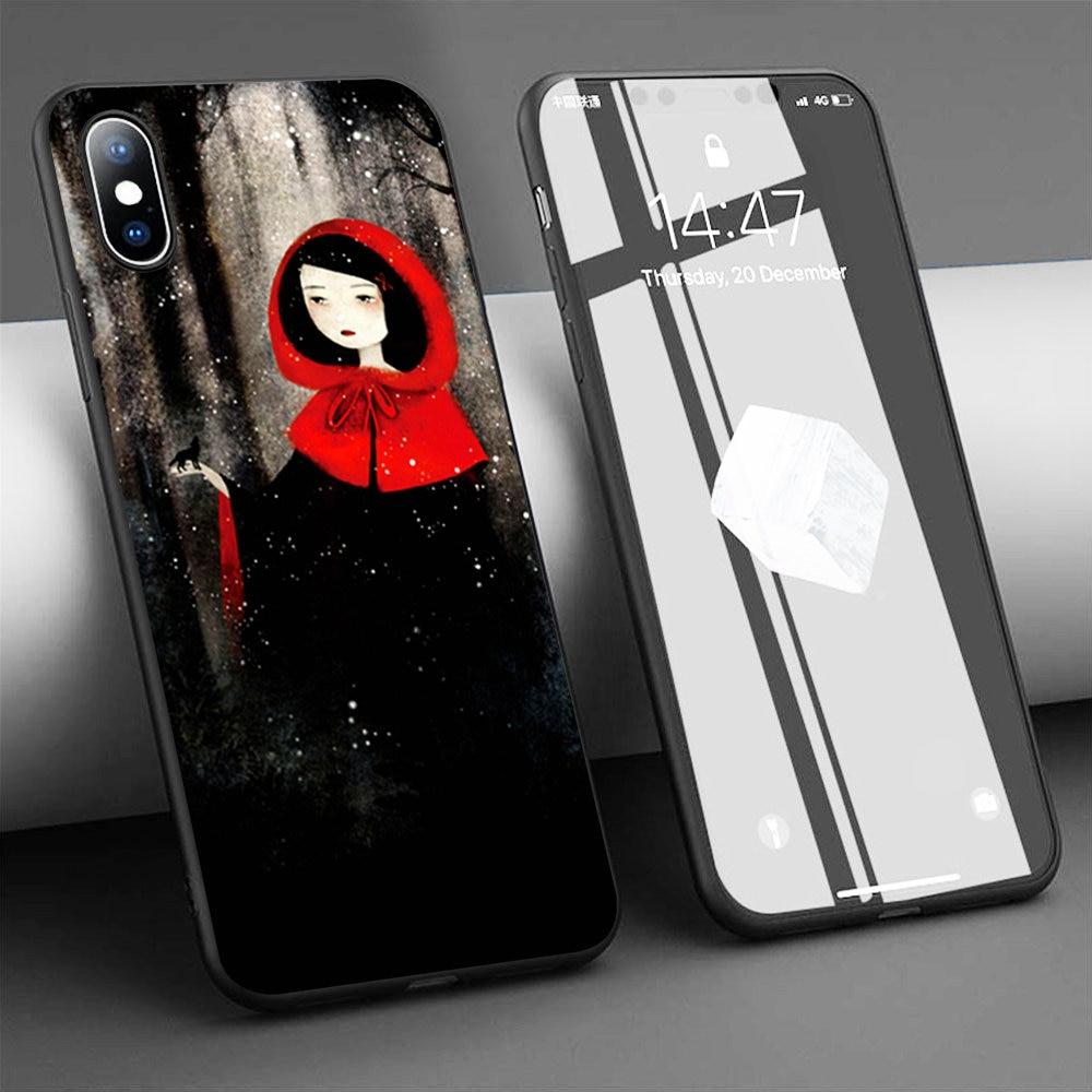 Funda de teléfono de silicona blanda Coque The Romantic Gothic of Anne para iPhone 11 Pro Max X 5S 6 6S XR XS Max 7 8 Plus, funda para teléfono