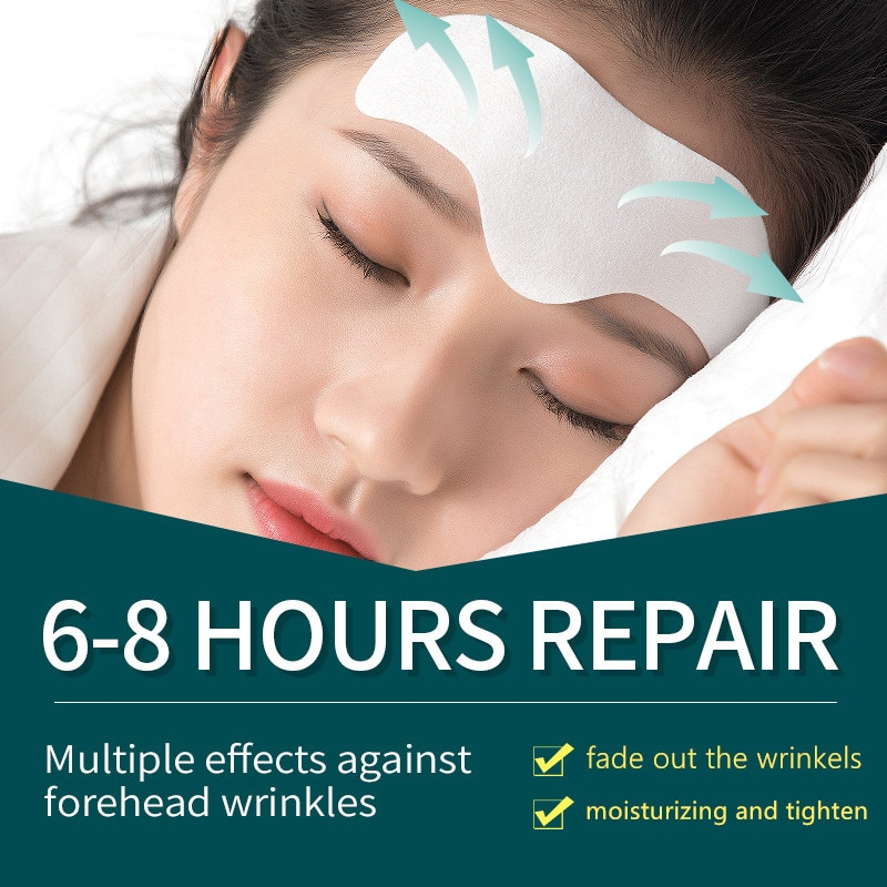Forehead Line Removal Gel Patch Anti Wrinkle Forehead Firming Mask Frown Lines Treatment Stickers Anti-Aging Lifting Skin Care