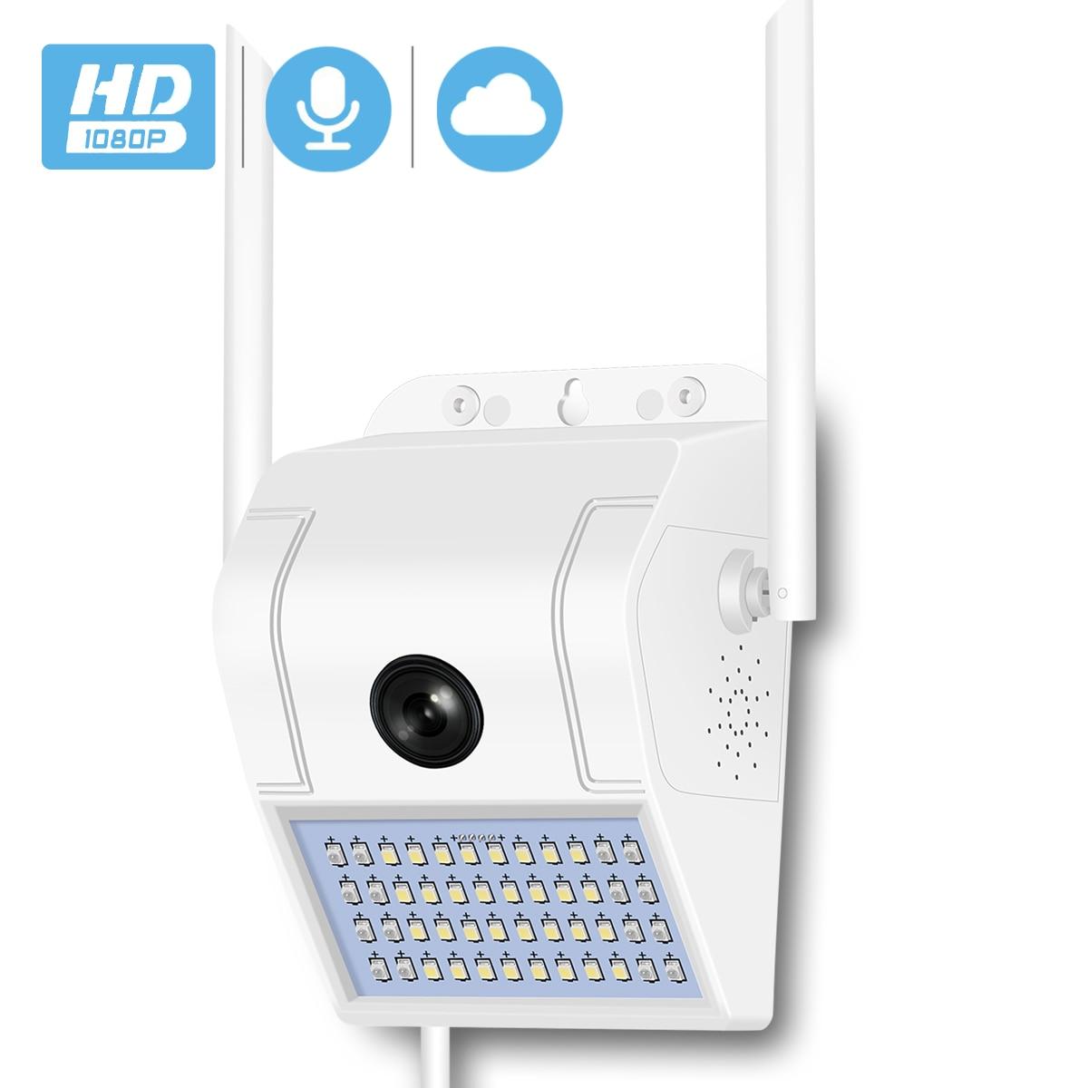 BESDER 1080P HD настенная лампа наружная IP камера WiFi ИК Ночное Видение человеческое тело умная Индукционная садовая беспроводная камера SD карта о...