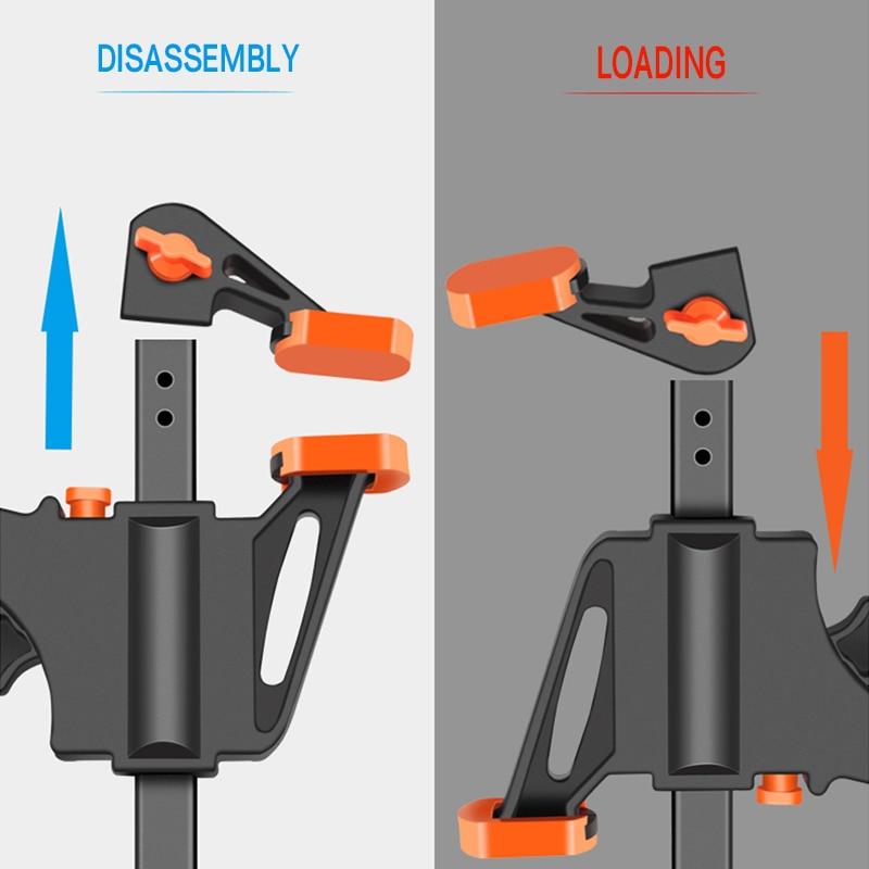 Zacisk drążka roboczego, zacisk F, narzędzie DIY ręczne - Zestawy narzędzi - Zdjęcie 2