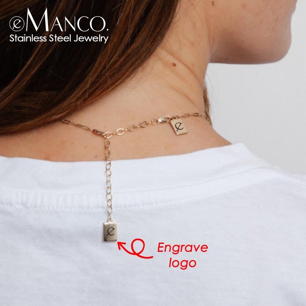 Etiquetas de logotipo personalizada, encantos de aço inoxidável para colar, pulseiras