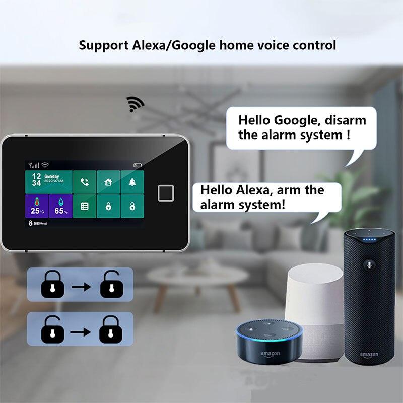 Gsm Wifi alarm detector Home alarm system Tuya smart life smart motion sensor system Alarms for doors and windows enlarge