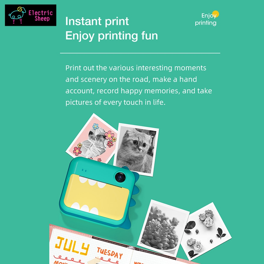 Children's Instant Camera With Print Toys For Kids Girls Instantane Print Camera Birthday Gift Video Photo Digital Camera enlarge