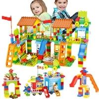 89 226pcs big size building blocks baby diy amusement park blocks compatible brand blocks construction figures bricks toys gifts