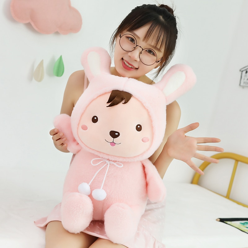 30cm/40cm/50cm Soft Kawaii Rabbit&Pig Plush Toy Cartoon Animal Cattle&Mouse Stuffed Doll Home Decoration Baby Birthday Best Gift  - buy with discount