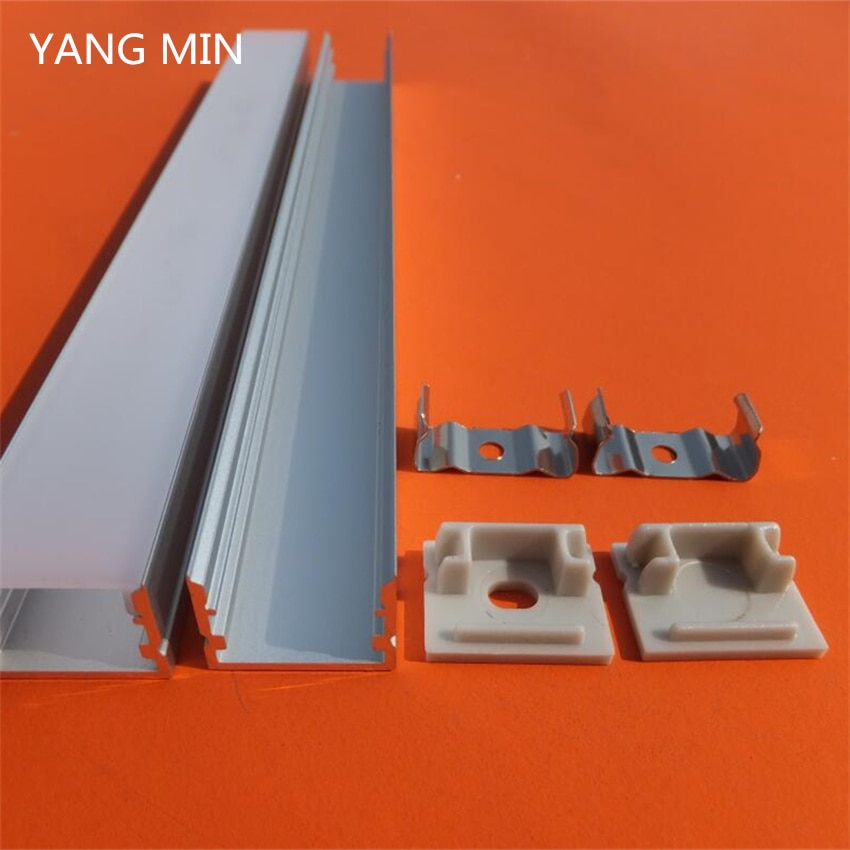 YANGMIN Free Shipping  2M/PCS Factory Price Aluminum Led Lighting Profiles for Recessed Ceiling Light Channel
