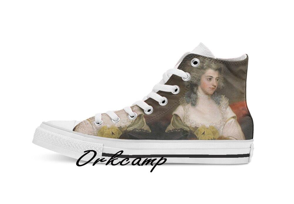 Vintage John Hoppner retrato de Suzannah Nora Lady Rowley Arte Fino personalizado Casual alta lona zapatos zapatillas Drop shipping